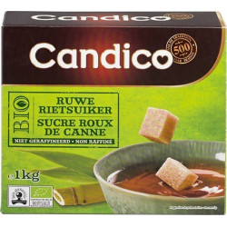 Buy-Achat-Purchase - CANDICO BIO cane brown sugar 1kg - Sugars - Candico