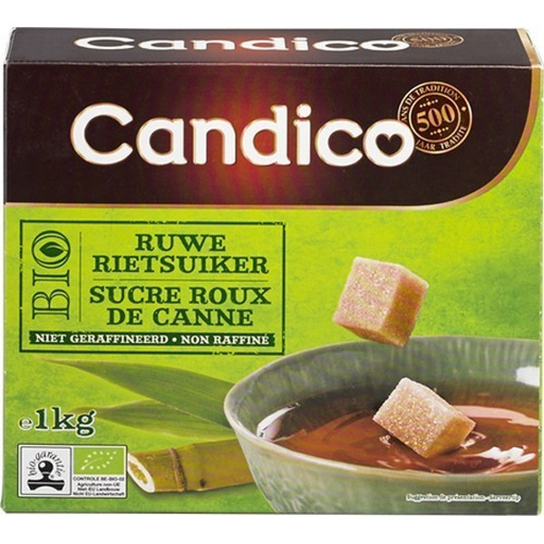 Buy-Achat-Purchase - CANDICO BIO cane brown sugar 1kg - Sugars - Candico