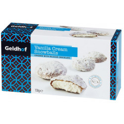 Geldhof Vanilla Chocolate Snowballs 300 gr - Chocolate Gifts - Geldhof