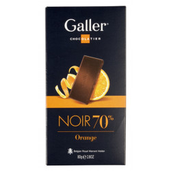 Galler Tablet Noir Intense 70 % Orange - Galler - Galler