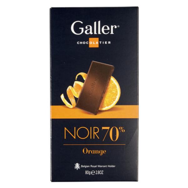 Galler Tablet Noir Intense 70 % Orange - Galler - Galler