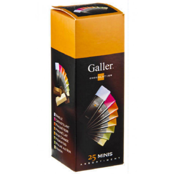 Buy-Achat-Purchase - GALLER 25 mini bars assortment 300 gr - Galler - Galler