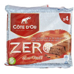 Buy-Achat-Purchase - Cote d'Or - Meurisse Zero Milk-Lait 4x50g - Cote d'Or - Cote D'OR