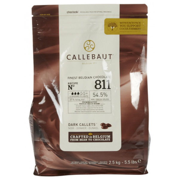 Buy-Achat-Purchase - CALLEBAUT Callets Select 811 BLACK 2,5 kg - Jacques-Callebaut -
