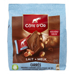 Buy-Achat-Purchase - Côte D'Or Carrés Amande-Caramel Pointe de Sel 180g - Cote d'Or - Cote D'OR