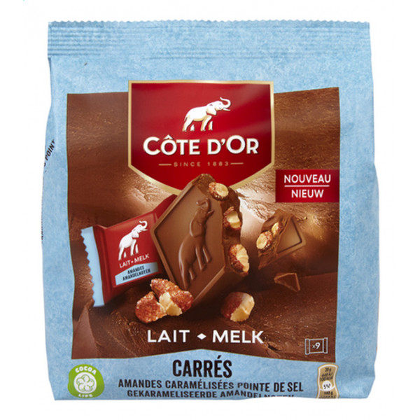 Buy-Achat-Purchase - Côte D'Or Carrés Amande-Caramel Pointe de Sel 180g - Cote d'Or - Cote D'OR