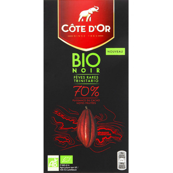 Buy-Achat-Purchase - Côte d'Or BIO Noir 70% 90g - Cote d'Or - Cote D'OR