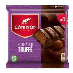 Buy-Achat-Purchase - Côte d'Or Noir Truffé 4x44g - Cote d'Or - Cote D'OR