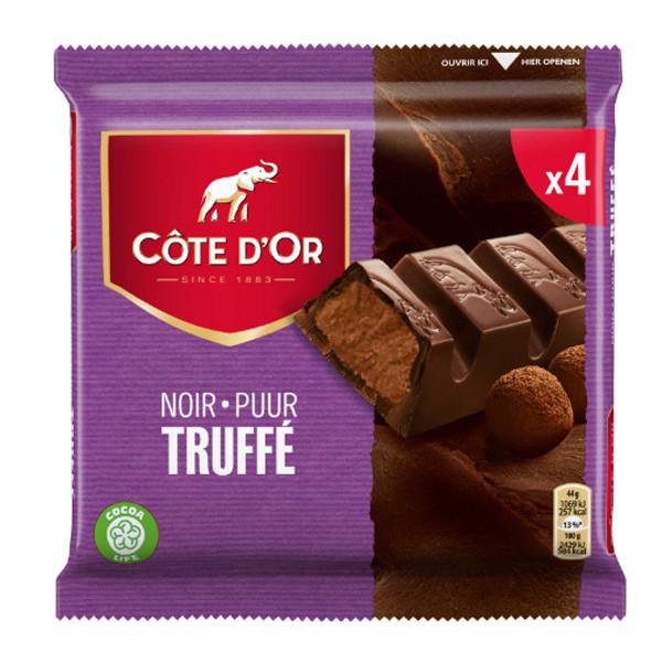 Côte d'Or Noir Truffé 4x44g - Cote d'Or - Cote D'OR