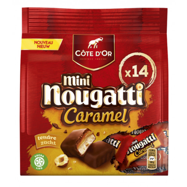 Buy-Achat-Purchase - Côte d'Or Mini Nougatti 14Xpcs 180g - Cote d'Or - Cote D'OR