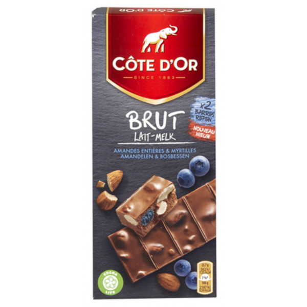 COTE D'OR Brut Milk Almonds Blueberries 180g - Cote d'Or - Cote D'OR