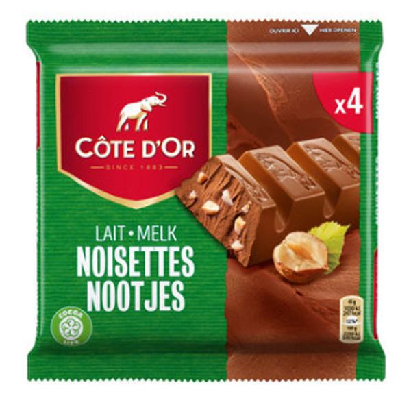 Buy-Achat-Purchase - Cote d'Or Milk Hazelnuts-Lait Noisettes 4x45g - Cote d'Or - Cote D'OR