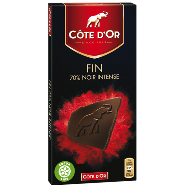Buy-Achat-Purchase - Côte d'Or Sensations Intense 70% Cacao 100g - Cote d'Or - Cote D'OR