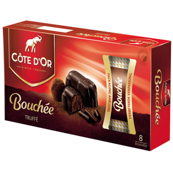 Buy-Achat-Purchase - Cote d'Or Bouchees Truffé Fantaisie 8X 19,5g - Cote d'Or - Cote D'OR