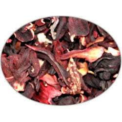 Hibiscus Flower (Chopped) in 1Kg (2.2LB) bag - Brewing Spices -