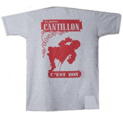 Cantillon T-Shirt Grey and Red - Merchandising  -