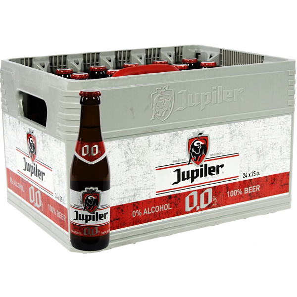 Buy-Achat-Purchase - Jupiler 0,0% 0° - CRATE 24x25cl - Low/No Alcohol - AB-Inbev