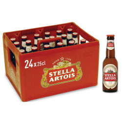 Buy-Achat-Purchase - Stella Artois 5.2° CRATE 24x25cl - Crates (15% discount) - AB-Inbev