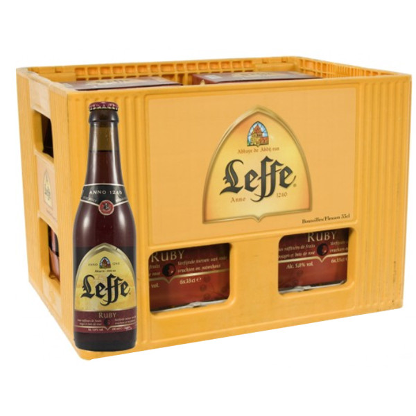 Buy-Achat-Purchase - Leffe Ruby 5° CRATE 24x33cl - Crates (15% discount) - Leffe