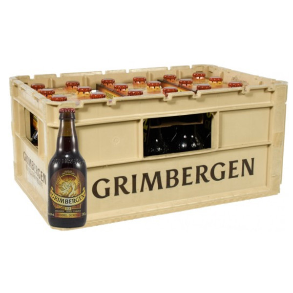 Buy-Achat-Purchase - Grimbergen Dubbel 6.5° CRATE 24x33cl - Abbey beers -