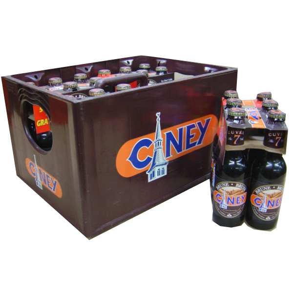 Buy-Achat-Purchase - Ciney Bruin 7° CRATE 24x25cl - Crates (15% discount) -