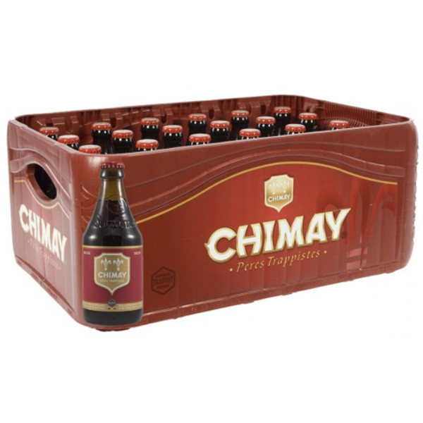 Buy-Achat-Purchase - Chimay Red 7° CRATE 24x33cl - Crates (15% discount) -