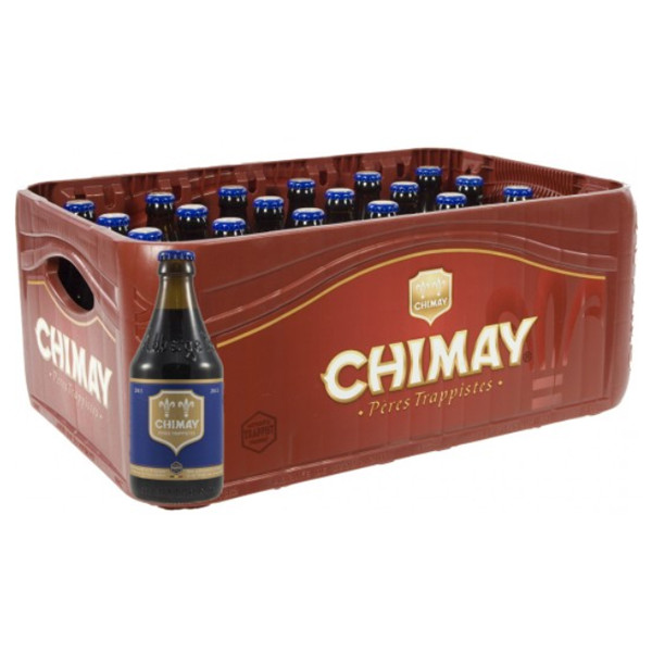 Buy-Achat-Purchase - Chimay Bleue 9° CRATE 24x33cl - Crates (15% discount) -