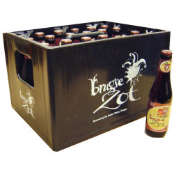 Buy-Achat-Purchase - Brugse Zot Dubbel 7.5° CRATE 24x33cl - Crates (15% discount) -