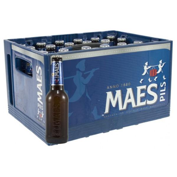 Maes Pils 5.2° CRATE 24X25cl - Crates (15% discount) -