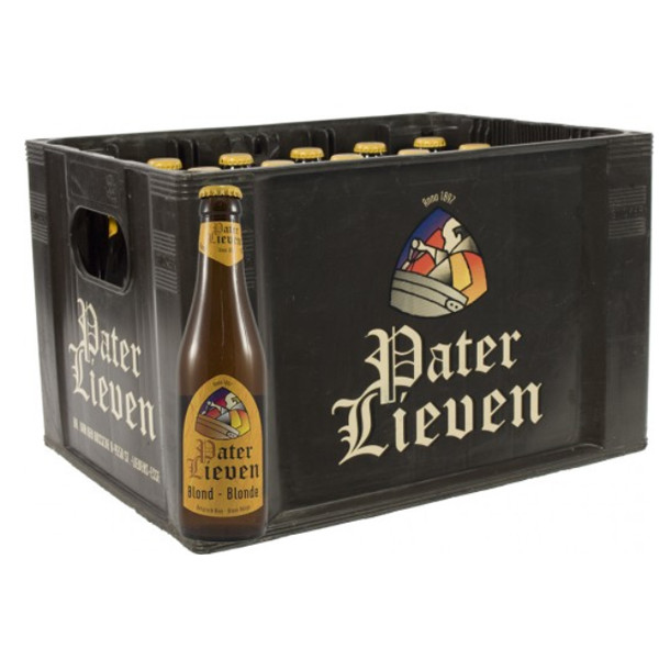 Pater Lieven Blond 6,5° CRATE 24x33cl - Crates (15% discount) -