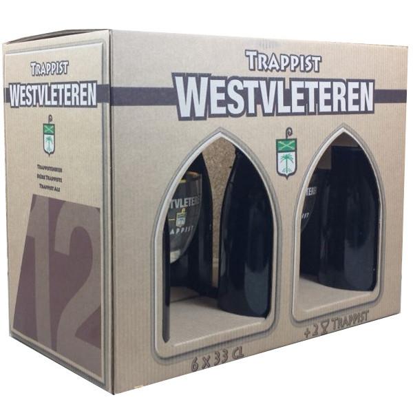 Westvleteren Pack 6X33 & 2 Glasses - Trappist beers -