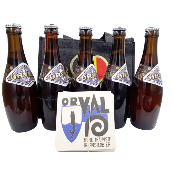 Buy-Achat-Purchase - Orval Tasting Set 5 x 33cl bottled '14, '15, '16, '17 & '18 - Trappist beers -
