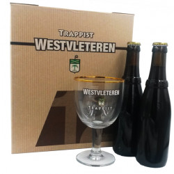 Westvleteren Pack TRIO 2x33cl - 1 glass - Trappist beers -