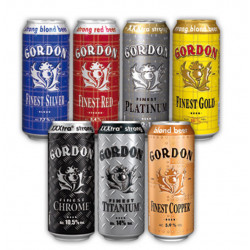 Pack Gordon Finest Beers 7 X Can 50cl - Beers Gifts -