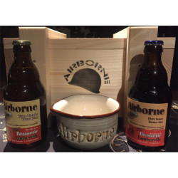 Buy-Achat-Purchase - Bastogne Airborne Wooden Pack 2x33 + 1mug - Beers Gifts -