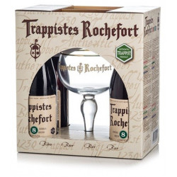 Buy-Achat-Purchase - Pack Rochefort 4X33cl + 1 Glass - Beers Gifts -