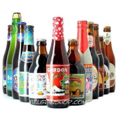 Buy-Achat-Purchase - 12 Christmas Belgian Beers Pack - Beers Gifts -
