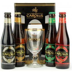 Buy-Achat-Purchase - Gouden Carolus Gift Pack 4x33cl & 1 glass - Beers Gifts -