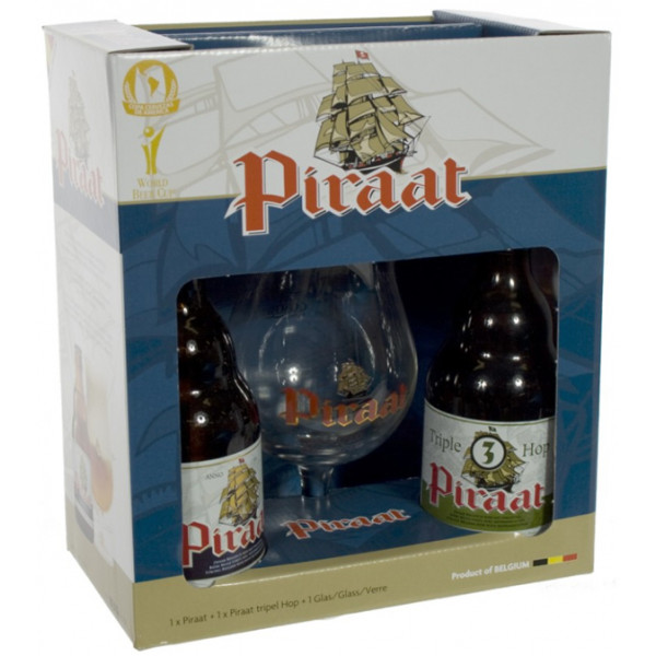 Buy-Achat-Purchase - Piraat Gift Pack 2x33cl & 1 glass - Beers Gifts -