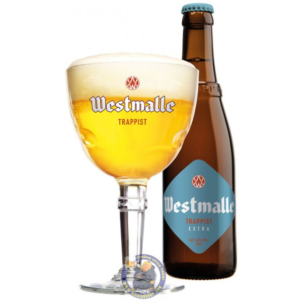 Buy-Achat-Purchase - WESTMALLE TRAPPIST EXTRA BLOND 4.8° - 1/3L - Trappist beers -