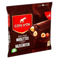 Buy-Achat-Purchase - Cote d'Or Dark Chocolate Bars Hazelnut 4x 45 g - Cote d'Or - Cote D'OR