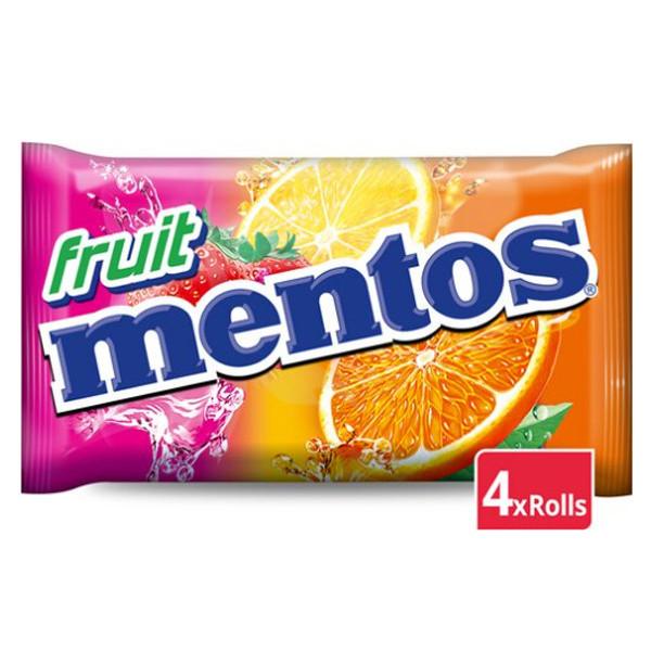 Buy-Achat-Purchase - Mentos Fruit 4 X 37,5g - Fruit candy / Dextrose -