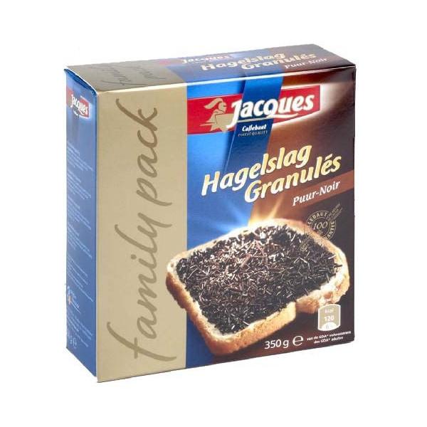 Jacques granulés de chocolat noir 350 g - Jacques-Callebaut - Jacques