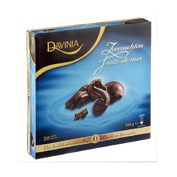 Buy-Achat-Purchase - DAVINIA fruits de mer chocolat noir 250g - Chocolate Gifts - Davinia