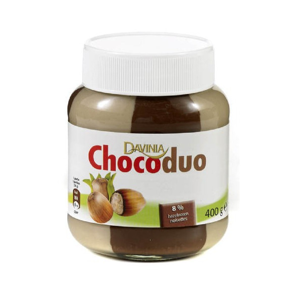 Buy-Achat-Purchase - DAVINIA choco duo pâte à tartiner 400 g - Choco - Davinia